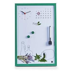 Zeller 11548 Tableau M Mo De Cuisine Avec Horloge Vert 45