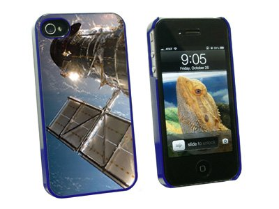 Graphics And More Hubble Telescope - Astronomy Space - Snap On Hard Protective Case For Apple Iphone 4 4S - Blue - Carrying Case - Non-Retail Packaging - Blue