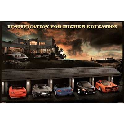 24x36) Justification for Higher Education Mansion Cars Poster ...