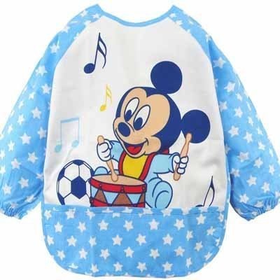 New Cartoon Nwt Baby Waterproof Feeding Bib Pinafore Clothes Blue Etyf007 front-186651