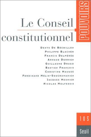 Pouvoirs, N° 105 : Le Conseil constitutionnel