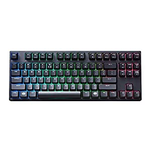 "Cooler Master MasterKeys Pro S RGB LED Gaming Keyboard ""SGK-6030-KKCM1-UK, UK Layout, Mechanical, TKL Size, Brown CHERRY MX Switches, reactive RGB LED backlit"""