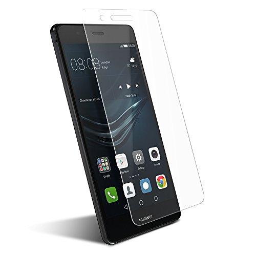 CoolReall - Protector de Pantalla de Cristal Vidrio Templado para Huawei p9 Lite,transparente