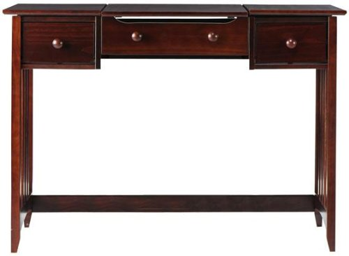 Hawthorne Slatted Vanity With Mirror, 32