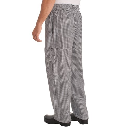 Chef Works Cpsc-000 Black And White Small Check J54 Cargo Pants, Size Xs front-301520