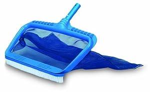 HydroTools Professional Swimming Pool Deep Bag Rake Skimmer and Brush Combo