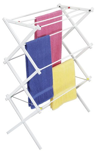 Household Essentials White Plastic Indoor Drying Rack