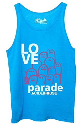 Canotta LOVE PARADE - MUSIC by MUSH Dress Your Style - Donna-XL Blu Royal