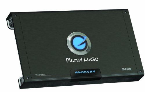 Planet Audio Ac2400.4 Anarchy 2400-Watts Full Range Class A/B 4 Channel 2 Ohm Stable Amplifier