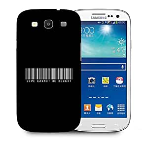 Snoogg Love Cannot Be Bought Designer Protective Back Case Cover For Samsung Galaxy S3