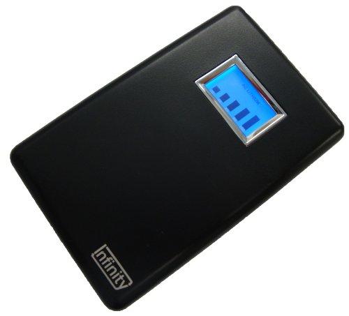 リンケージ Infinity リチウムポリマー内蔵 AC充電器 大容量2000mAh 海外対応 USB接続タイプ 携帯電話、iPod、iPhone、mp3プレーヤー、Dsi、DSLite、PSPなどに ブラック ACLD-04B