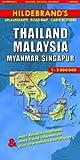 Collectif Hildebrand's Travel Map: Thailand, Burma, Malaysia and Singapore: Stadtpläne von Singapur (1 : 140 000), Kuala Lumpur, Bangkok, Chiang Mai, Mandalay, Penang und Yangong