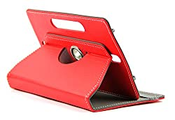 DOMO nCase B9 Smart Cover Carry Case For 7 inch Tablet PC With 360 Degree Rotation Tablet Stand And Camera Holes - Red