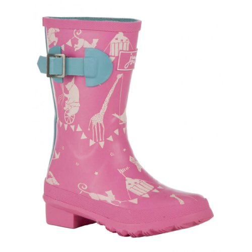Joules Jnr Wellyg Boots - Pink Spot
