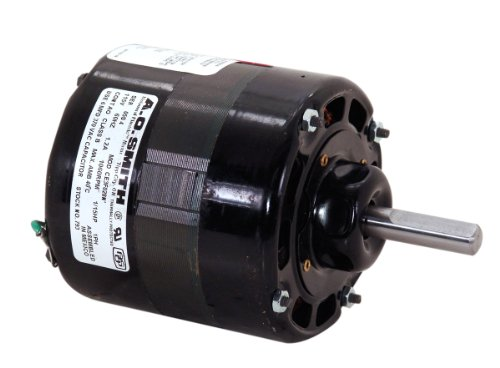 A.O. Smith 793 4.4-Inch 1/15 Hp, 115 Volts, 1060 Rpm, Open Enclosure, 3 Spd, 3/8-Inch By 2-1/2-Inch Shaft General Purpose Psc Motor