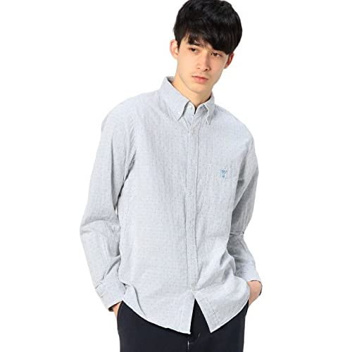 (コーエン) COEN ドットダブルガーゼボタンダウンシャツ 75106045032 01 White M