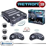 New Retron 3 Video Gaming System For NES SNES & Genesis Charcoal Gray Two Original Controll Ports