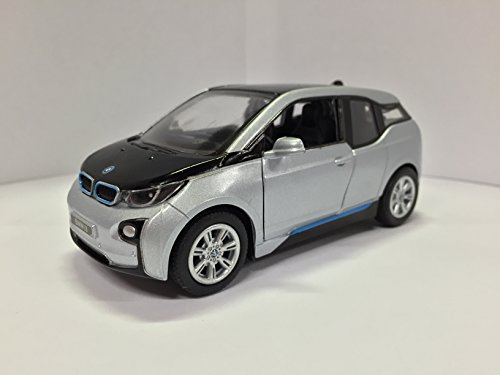 1:32 Scale BMW i3 Electric Car Model (Ionic Silver Metallic w/BMW i Frozen Blue accent) (Bmw Models compare prices)