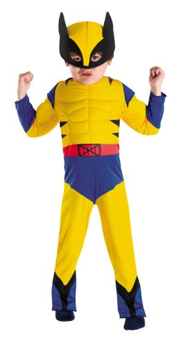 Costumes For All Occasions DG50124M Wolverine Toddler Muscle 3T-4T