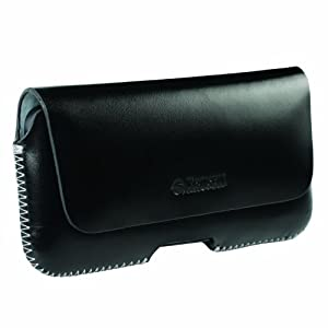 Krusell Hector tui en cuir avec multi compatible passant ceinture rabat magntique pour iPhone 5 Noir