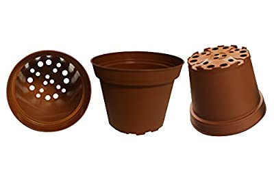 Plastic Pots for Plants, Cuttings & Seedlings, 4-Inch, 30-Pack. Varied Colors