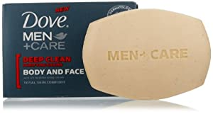 Dove Men + Care Body and Face Bar, Deep Clean, 4 Bar (Pack of 2)