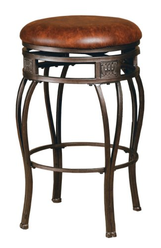 backless swivel bar stools leather 2