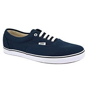 Vans Lpe Lo Pro Era JK6NWD Womens Canvas Laced Trainers Navy White - 6