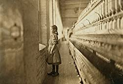 Child Laborer at Mill Window Photograph - Beautiful 16x20-inch Photographic Print from the Library of Congress Collection