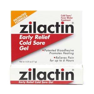 Zilactin Cold Sore Relief Gel 0.25 oz (Quantity of 4)
