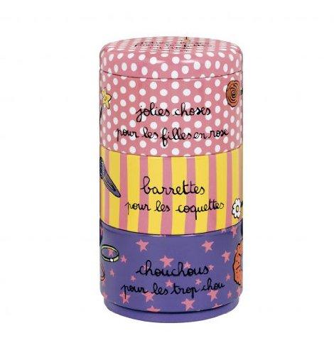 Boite à accessoires cheveux (empilable) -Multicolore - Derrière la Porte - DLP