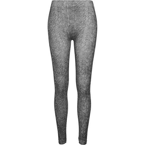 Urban Classics Ladies Denim Look Leggins Leggings nero S