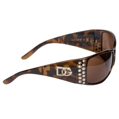 Tortoise Dg Eyewear Women'S Crystal Rhinestone Sunglasses