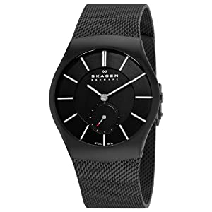 Skagen Men's 916XLBSB Steel Sandblasted Black Watch