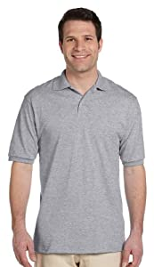 Jerzees Men's Stain Resistant Polo Shirt with SpotShield, Oxford, 5XL
