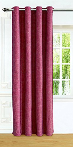 """Linkedin Store Window Treatments Thermal Insulated Linen-Look Textured Grommets Curtain (52""""X63"""", Red)"""