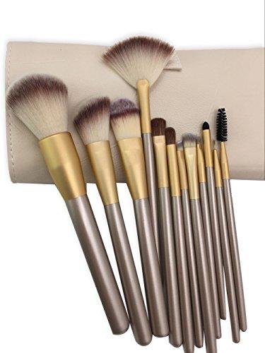 Enilecor 12piece makeup brushes set professional premium - Natural horse hair interior upholstery brush ...