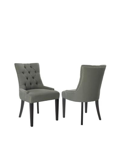 Safavieh Set of 2 Ashley Side Chairs, Sea Mist