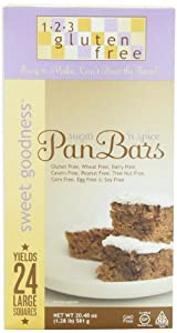 123 Gluten Free Sweet Goodness Pan Bars Mix, Sugar 'n Spice, 20.48-Ounce Boxes (Pack of 3)
