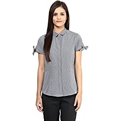 Annabelle by pantaloons Women's Casual Shirt (205000005551307_Black_XL)