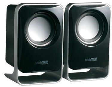 Techsolo TL-2030 2.0 Stereo Lautsprechersystem für PC (5 Watt, USB 2.0)