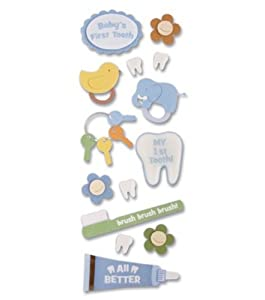 Jolees A Touch Of Jolees Dimensional Stickers, Baby/First Tooth