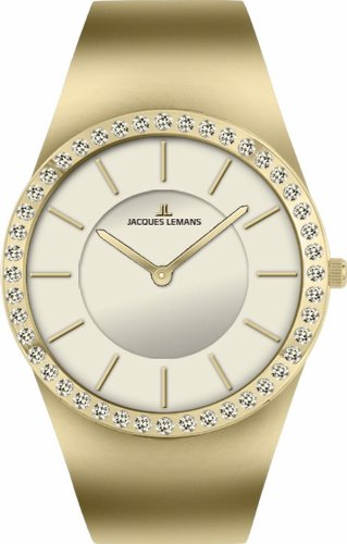 Jacques Lemans Women's 1-1665D Cannes Analog with Swarovski Elements Watch