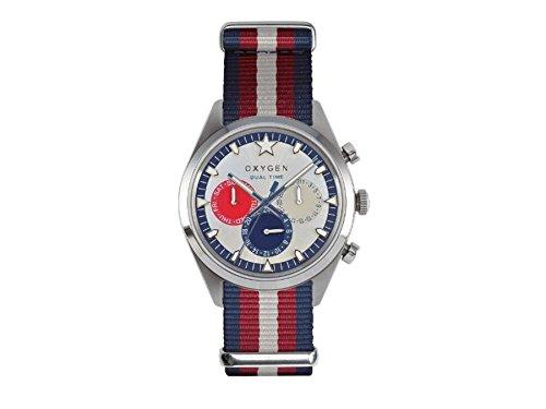 Oxygen orologio uomo Sport Dual Time 40 mm Long Island EX-SDT-LON-40-NN-NAREIV