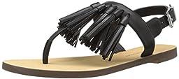 Rebecca Minkoff Women\'s Erin Flat Sandal, Black, 8.5 M US