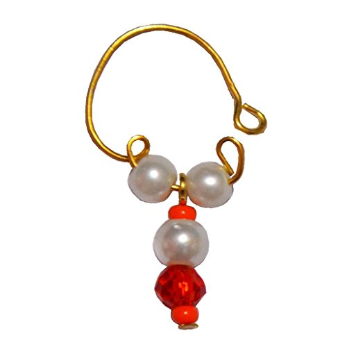 54 Off On Men Style Hot Selling Pearl Bali Gold Alloy Piercing Hoop