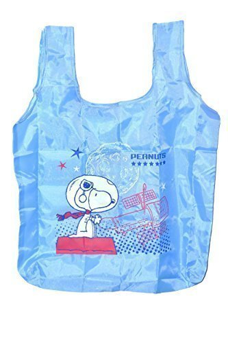 Peanuts-Snoopy-Reusable-Nylon-Bag-20-In-Storage-Pouch-Blue