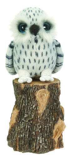 "8"" Snowy White Owl Plush Stuffed Animal Toy by Fiesta Toys"