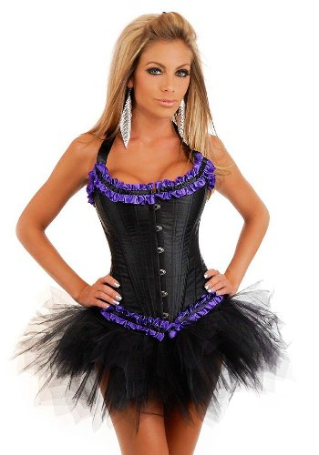 Debutante Tie Strap Burlesque Corset And Pettiskirt