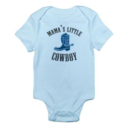 Cafepress Mama'S Little Cowboy Infant Bodysuit - 12-18M Sky Blue